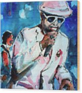 Memphis Music Legend William Bell On Stage 1 Wood Print