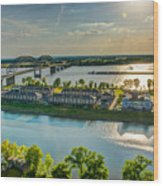 Memphis On The Mississippi Wood Print