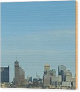 Memphis Skyline Wood Print
