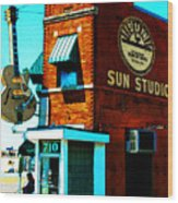 Memphis Sun Studio Birthplace Of Rock And Roll 20160215sketch Wood Print
