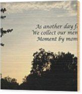 Memphis Sunset Haiku Wood Print by Leona Atkinson