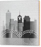 Memphis, Tennessee Skyline  Wood Print