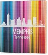 Memphis Tn 2 Squared Wood Print
