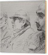 Men 3 Wood Print