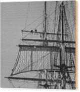 Men Aloft Wood Print