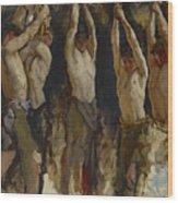 Men At An Anvil, Study For The Spirit Of Vulcan Wood Print