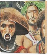 Men From New Guinea Wood Print