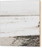 Men On Beach Wood Print