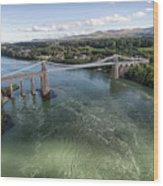 Menai Bridge 2 Wood Print