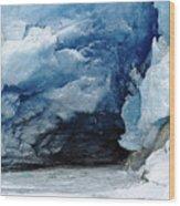 Mendenhall Glacier Face Wood Print
