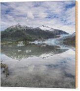 Mendenhall Lake Wood Print