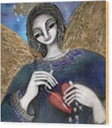 Mender Of Hearts Angel Wood Print
