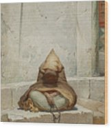 Mendicant In Meditation Wood Print