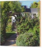 Mendocino Gate Wood Print