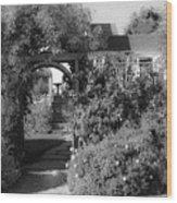 Mendocino Gate Bw Wood Print