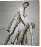 Menelaus And Patroclus Sculpture Wood Print