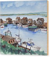 Menemsha Safe Haven Wood Print