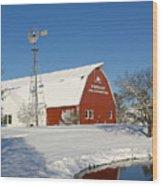 Menno Hof In The Snow 2 Wood Print