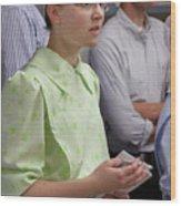 Mennonite Chorus Union Square Station Nyc 5 21 11 4 Female Sing Wood Print