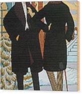 Mens Fashion, 1919 Wood Print