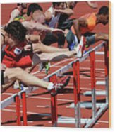 Mens Hurdles 2 Wood Print