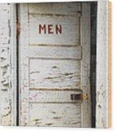 Men's Room Wood Print