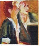 Mentor And Student At The Piano Wood Print
