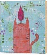 Meow Song Wood Print