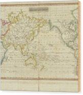 Mercator's Chart Wood Print