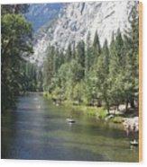 Merced River In Yosemite Wood Print