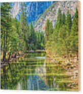Merced River Wood Print