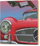Mercedes 300 Sl Gullwing Detail Wood Print