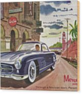 Mercedes 300 Sl Wood Print