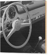 Mercedes 300sl Dashboard Wood Print
