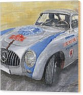 Mercedes Benz 300 Sl 1952 Carrera Panamericana Mexico  Wood Print
