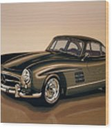 Mercedes Benz 300 Sl 1954 Painting Wood Print