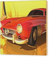 Mercedes-benz 300 Sl Red Wood Print