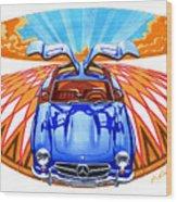 Mercedes-benz 300 Slk Wood Print
