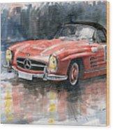 Mercedes Benz 300sl Wood Print