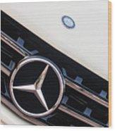 Mercedes-benz Emblem - Grille Logo -0030c Wood Print