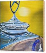 Mercedes-benz Hood Ornament - Emblem -0961c Wood Print