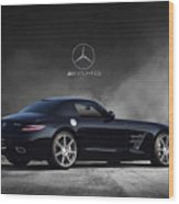 Mercedes Benz Sls Amg Wood Print