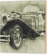 Mercedes-benz Ssk 1 - 1928 - Automotive Art - Car Posters Wood Print