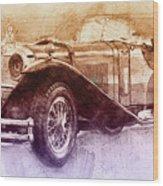 Mercedes-benz Ssk 2 - 1928 - Automotive Art - Car Posters Wood Print