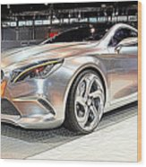 Mercedes Benz Style Coupe Concept Number 2 Wood Print