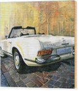 Mercedes Benz W113 280 Sl Pagoda Wood Print