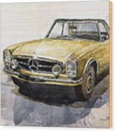 Mercedes Benz W113 Pagoda Wood Print