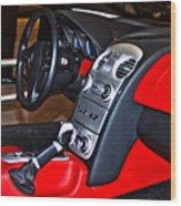 Mercedes Slr Concept Car Interior Wood Print