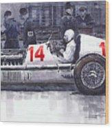 Mercedes W25c Monaco Gp 1936 Manfred Von Brauchitsch Wood Print