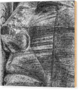 Merchant Seafarers War Memorial Cardiff Bay Black And White Wood Print
